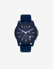 ARMANI EXCHANGE SIGNATURE BLUE SPORT WATCH Uhr Herren f