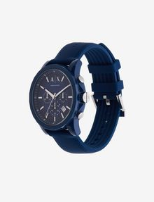 ARMANI EXCHANGE SIGNATURE BLUE SPORT WATCH Uhr Herren r