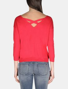 ARMANI EXCHANGE LONG SLEEVE CROSS BACK SWEATER Pullover Woman r