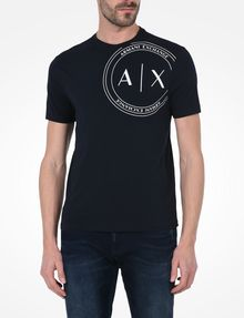 Ax Crewneck T Circle ShirtLogo Exchange Armani Shirt MenA For zSUMpV