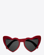 SAINT LAURENT Sunglasses D NEW WAVE 181 LOULOU Sunglasses in Shiny Red Acetate with Grey Nylon Lenses f
