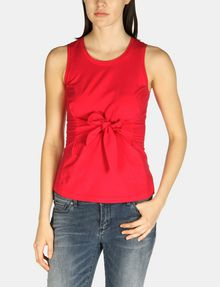 ARMANI EXCHANGE SLEEVELESS TIE WAIST TOP S/L Knit Top Woman f