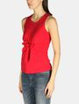 ARMANI EXCHANGE SLEEVELESS TIE WAIST TOP S/L Knit Top Woman d