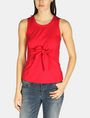 ARMANI EXCHANGE SLEEVELESS TIE WAIST TOP S/L Knit Top D f