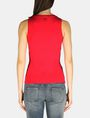 ARMANI EXCHANGE SLEEVELESS TIE WAIST TOP S/L Knit Top D r