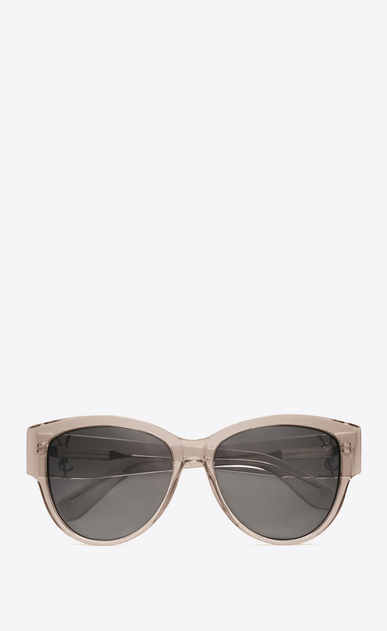 SAINT LAURENT MONOGRAM SUNGLASSES D monogram m3 sunglasses in transparent powder acetate and silver metal with flash silver lenses a_V4