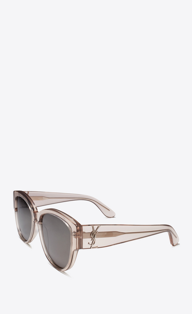SAINT LAURENT MONOGRAM SUNGLASSES D monogram m3 sunglasses in transparent powder acetate and silver metal with flash silver lenses b_V4