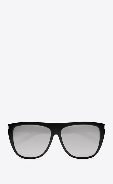 SAINT LAURENT NEW WAVE E new wave 1 sunglasses in shiny black acetate with mirror extra white lenses a_V4