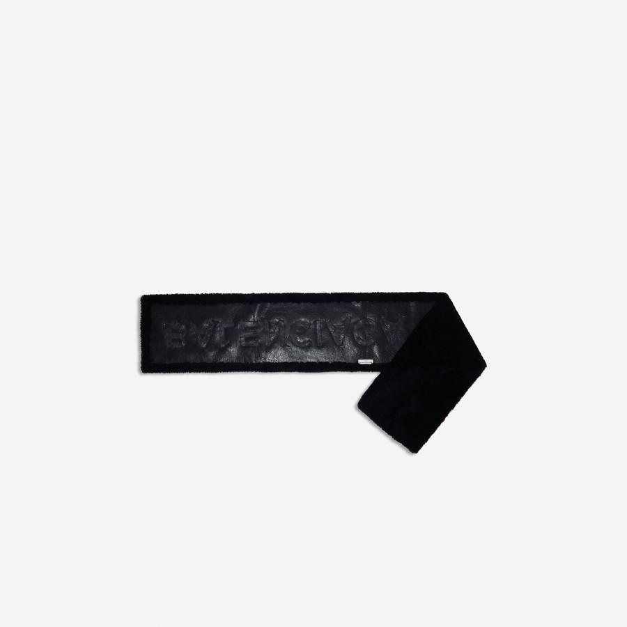 BALENCIAGA Shearling Scarf Scarves & foulards D d