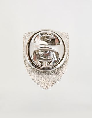 Scuderia Ferrari Online Store - Jacket pin with enamelled Ferrari Shield - Brooches & Pins
