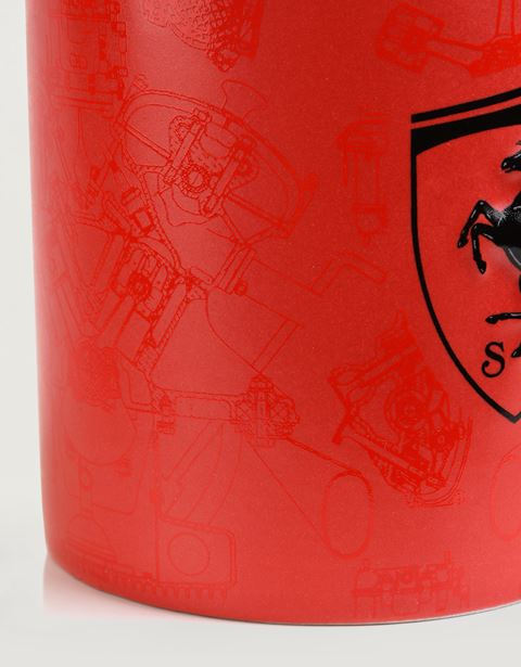 Scuderia Ferrari Online Store - Matte-finish ceramic mug with Ferrari Shied -
