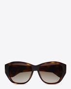 SAINT LAURENT MONOGRAM SUNGLASSES D MONOGRAM M8/F Sunglasses in Shiny Medium Havana Acetate and Gold Metal with Brown Gradient Lenses   f