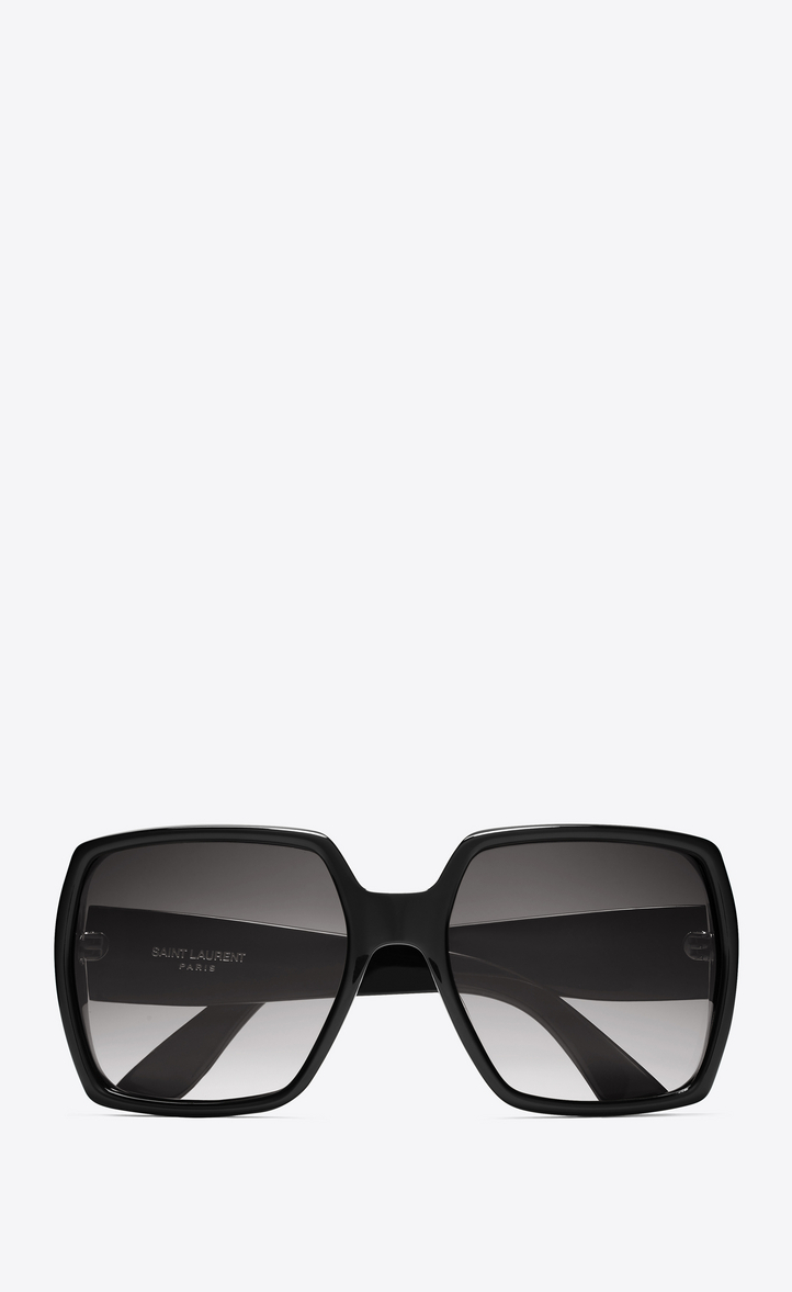 7f33546954 Zoom  MONOGRAM M2 F Sunglasses in Shiny Black Acetate and Matte Black Metal  with Grey Gradient