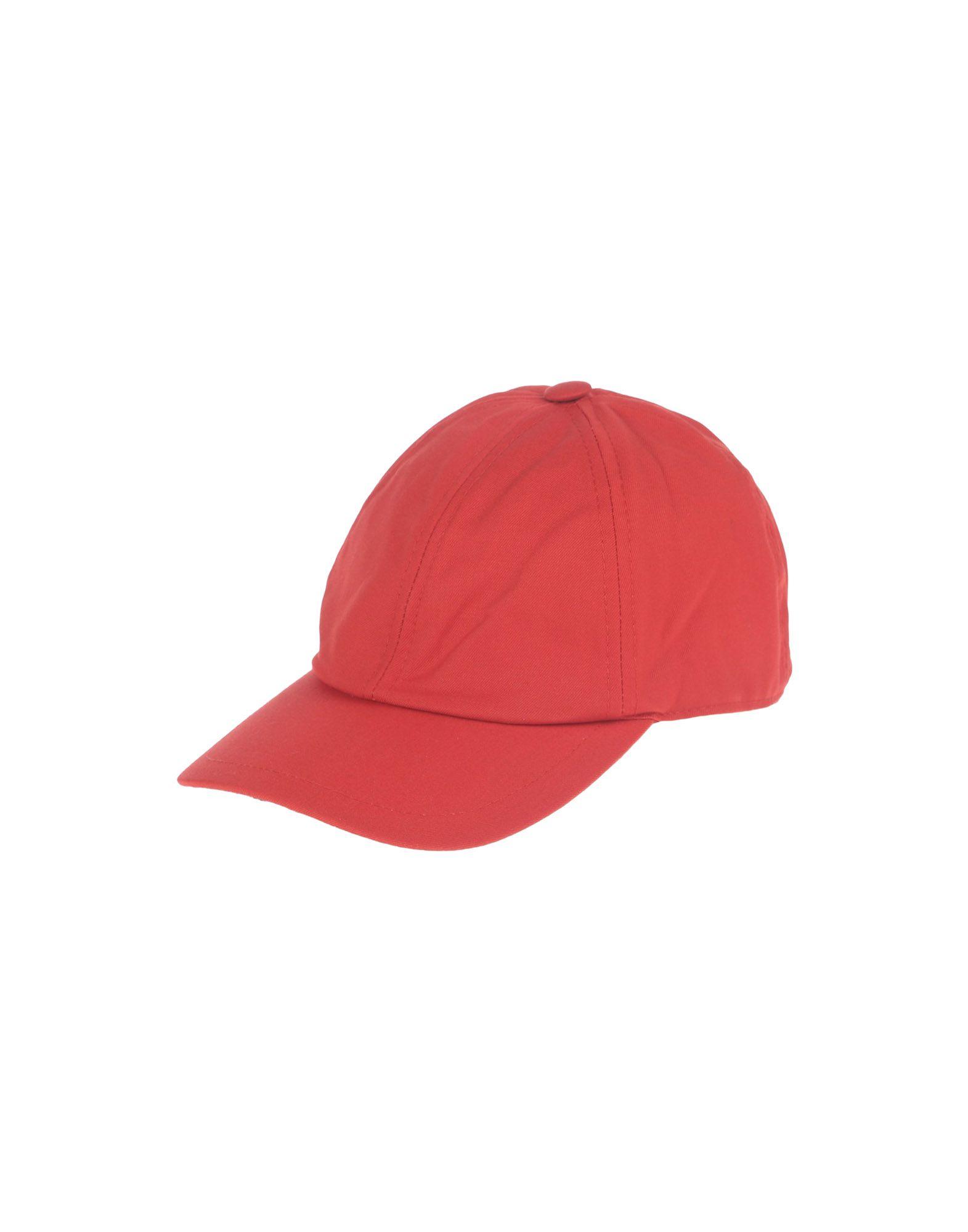 《送料無料》PIERO GUIDI メンズ 帽子 レッド one size コットン 100%