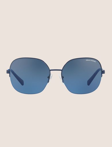 OVERSIZE POOL BLUE SUNGLASSES