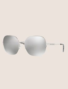 ARMANI EXCHANGE OVERSIZE CHROME SUNGLASSES Sunglass Woman e