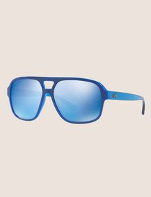 ARMANI EXCHANGE POOL BLUE BOLD AVIATOR SUNGLASSES Sunglass Man e