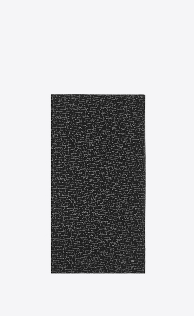 "SAINT LAURENT Large scarves Man Scarf in Black and White ""Je T'Aime"" Wool Etamine a_V4"