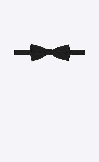 SAINT LAURENT Bow Ties Man yves bow tie in black grosgrain b_V4