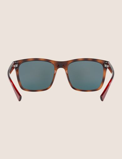 TORTOISE COLORBLOCK RETRO SUNGLASSES