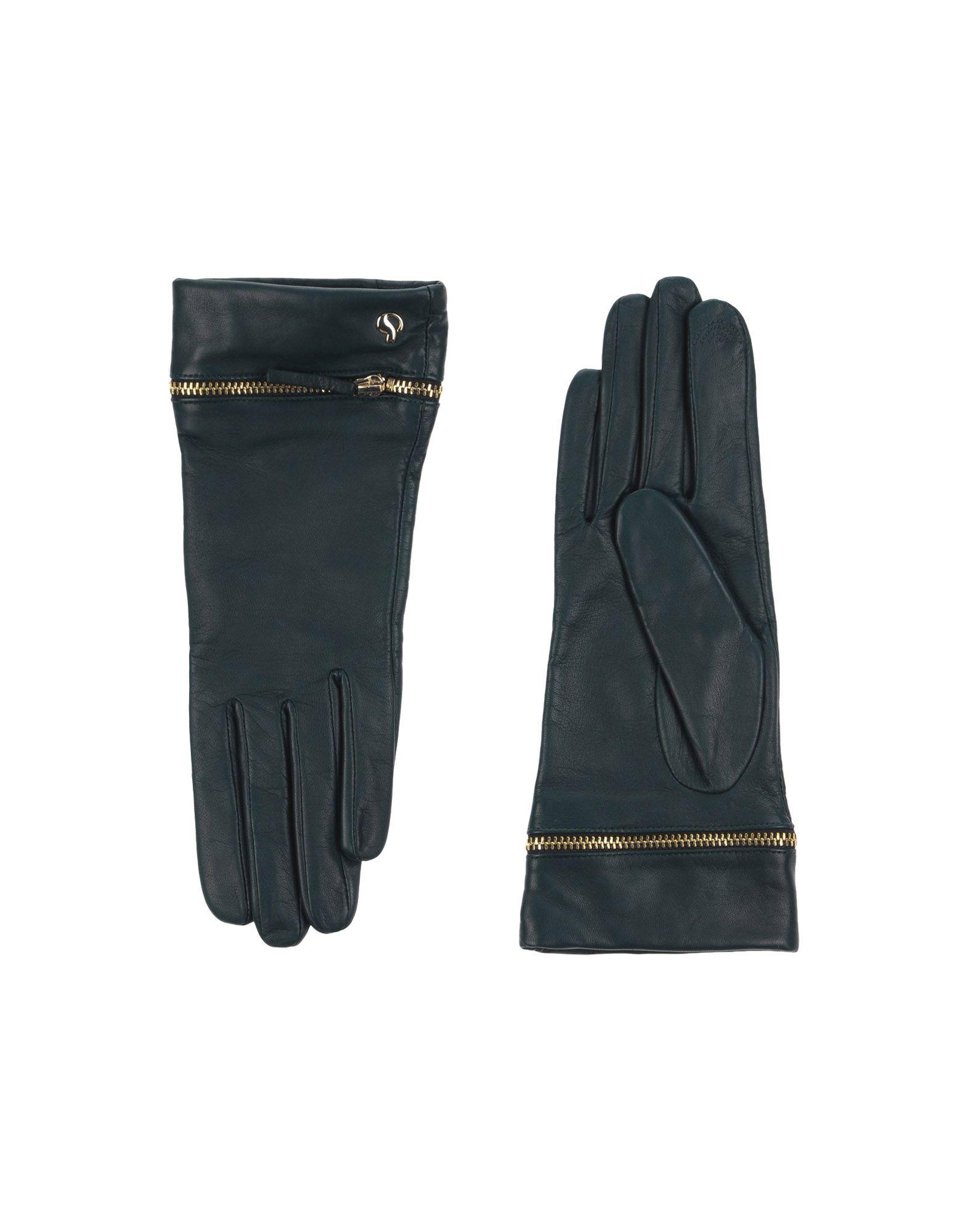 《セール開催中》DAL DOSSO? レディース 手袋 ダークグリーン 7 革