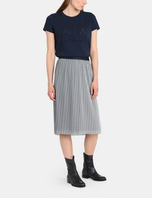 ARMANI EXCHANGE PLEATED PINSTRIPE MIDI SKIRT Midi Skirt Woman a