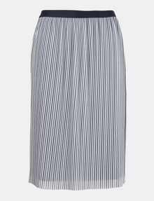 ARMANI EXCHANGE PLEATED PINSTRIPE MIDI SKIRT Midi Skirt Woman b