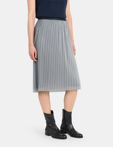 ARMANI EXCHANGE PLEATED PINSTRIPE MIDI SKIRT Midi Skirt Woman d