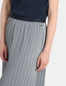 ARMANI EXCHANGE PLEATED PINSTRIPE MIDI SKIRT Midi Skirt Woman e