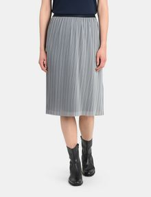 ARMANI EXCHANGE PLEATED PINSTRIPE MIDI SKIRT Midi Skirt Woman f