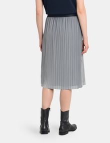 ARMANI EXCHANGE PLEATED PINSTRIPE MIDI SKIRT Midi Skirt Woman r
