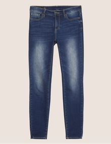 ARMANI EXCHANGE DARK-WASH DISTRESSED SUPER-SKINNY JEANS Skinny jeans Woman r