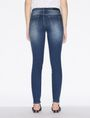 ARMANI EXCHANGE DARK-WASH DISTRESSED SUPER-SKINNY JEANS Skinny jeans Woman e
