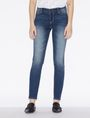 ARMANI EXCHANGE DARK-WASH DISTRESSED SUPER-SKINNY JEANS Skinny jeans Woman f