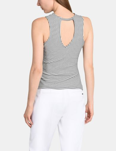 OPEN-BACK TEXTURED TANK
