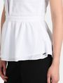ARMANI EXCHANGE PEPLUM-BACK V-NECK TOP S/L Woven Top Woman e