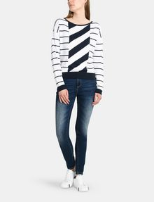 ARMANI EXCHANGE MIXED STRIPE PULLOVER SWEATER Pullover Woman a