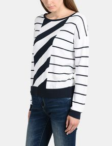 ARMANI EXCHANGE MIXED STRIPE PULLOVER SWEATER Pullover Woman d