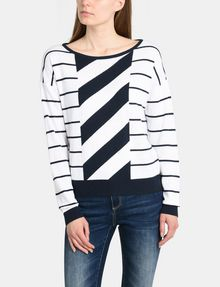 ARMANI EXCHANGE MIXED STRIPE PULLOVER SWEATER Pullover Woman f