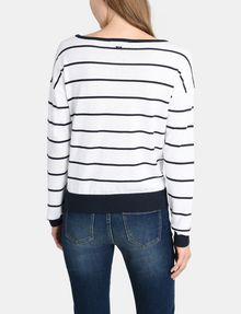 ARMANI EXCHANGE MIXED STRIPE PULLOVER SWEATER Pullover Woman r