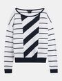 ARMANI EXCHANGE MIXED STRIPE PULLOVER SWEATER Pullover Woman b