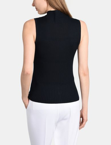 RIBBED MOCKNECK SWEATER TANK