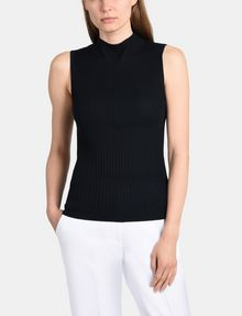ARMANI EXCHANGE RIBBED MOCKNECK SWEATER TANK Pullover Woman f