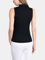 ARMANI EXCHANGE RIBBED MOCKNECK SWEATER TANK Pullover Woman r
