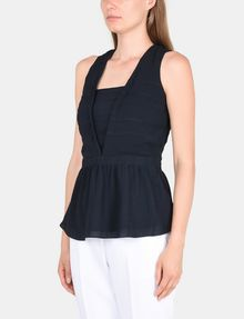 ARMANI EXCHANGE PEPLUM-BACK V-NECK TOP S/L Woven Top Woman d