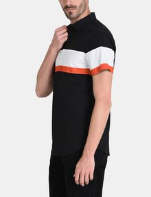 ARMANI EXCHANGE SHORT SLEEVE OFFSET STRIPE SHIRT Kurzärmeliges Hemd Herren d