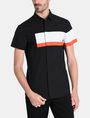 ARMANI EXCHANGE SHORT SLEEVE OFFSET STRIPE SHIRT Kurzärmeliges Hemd Herren f