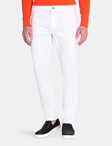 SLIM FIT GABARDINE CHINO PANTS