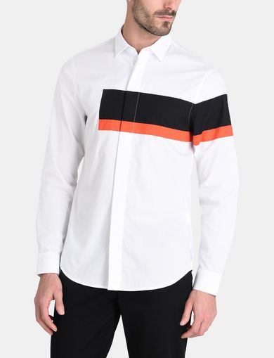 OFFSET STRIPE SHIRT