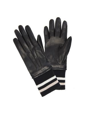 LAMBSKIN RIBBED GLOVES